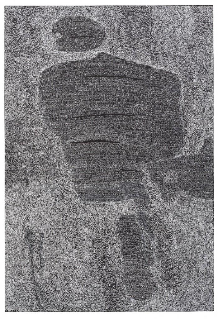 _Encre Blanche 1_, encre blanche sur papier noir, 29 x 19,5 cm (Copier)