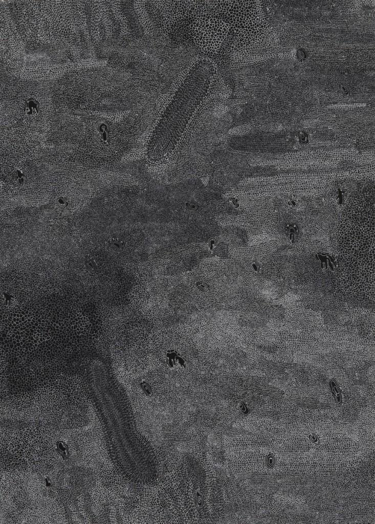 _Encre Blanche 7_, encre blanche sur papier noir, 25x18cm (Copier)