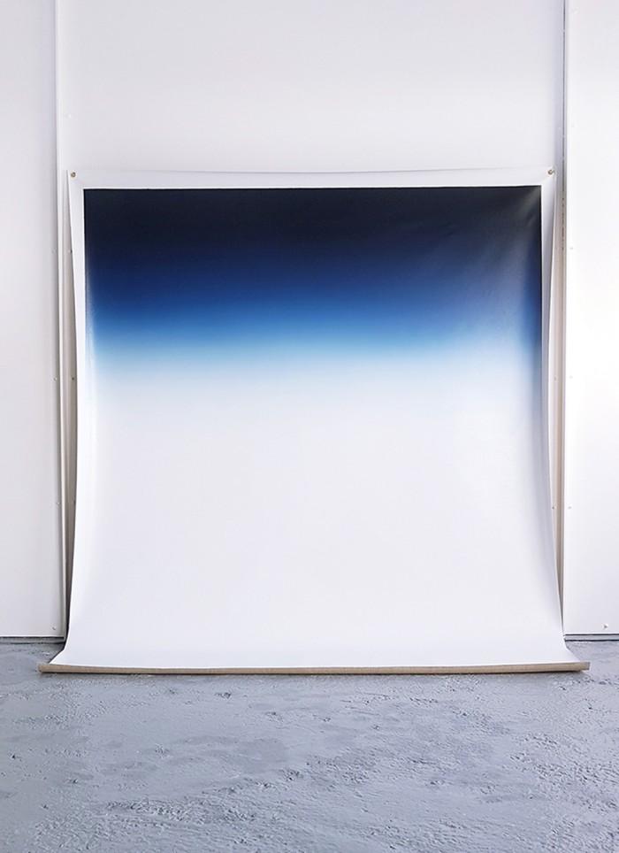 Grand bleu 2, 2015, huile sur toile, 180 x 220 cm.