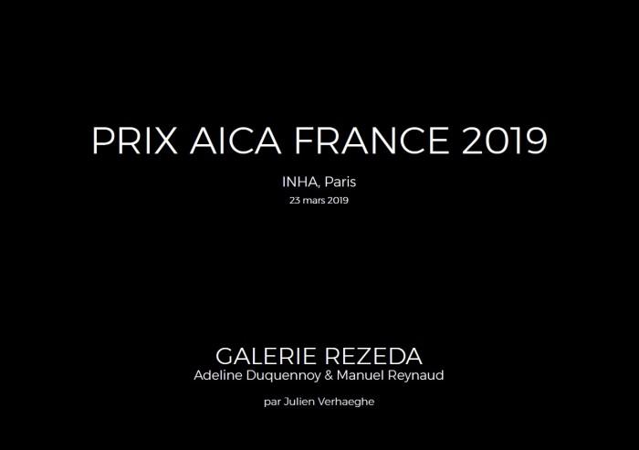 Prix Aica Galerie Rezeda